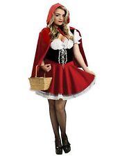 Girls Ladies Halloween Little Red Riding Hood Fairytale Storybook Dress Costume