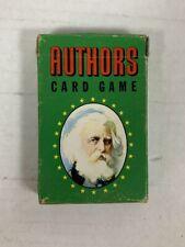 Vintage AUTHORS CARD GAME - Whitman Publishing #3012