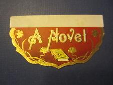 Original Old - A NOVEL - CIGAR LABEL - Back Flap - Book