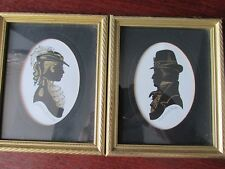 Pair Signed Artists Proofs Silhouettes Sir Peregrin & Lady Verity by Enid Elliot