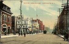 Amsterdam NY Main Street Trolley c1910 Postcard