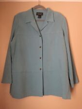 Women's - Button Front Shirt - Sz XL - Long Sleeve - Light Blue - Collar - Soft