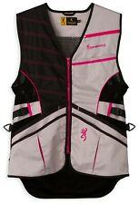 Browning Women's Ace Shooting Vest - Choice of M, L, XL, Hot Pink - New