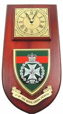1ST BTN ROYAL GREEN JACKETS CLASSIC REGIMENTAL HAND MADE TO ORDER WALL CLOCK