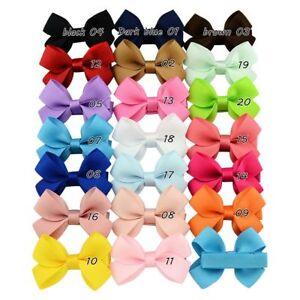 2'' Hair Bow Grosgrain Ribbon Hair Bowknot With Clip For Girl Baby 2pcs