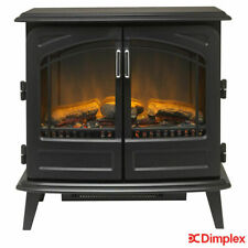 Dimplex Freestanding Electric Stove Optiflame Technology 2KW in Matte Black UK