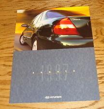 Original 1997 Hyundai Sonata Deluxe Sales Brochure 97