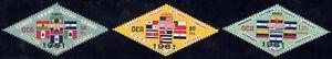 1964 Ecuador SC# C423-C425 - Various Flags Overprinted - M-H
