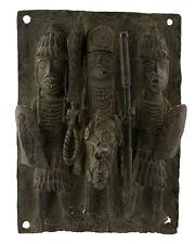 Bronze africain Benin -plaque de palais Bini Edo Nigeria -40x29- 1204