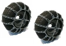 2 Link TIRE CHAINS & TENSIONERS 16x6.5x8 for Garden Tractors Riders Snowblower
