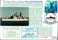 GB FDC NAVY SIGNED COLOUR PHOTO SERIES 5 DEPLOYMENTS NAVY DAYS FLEET REVIEWS