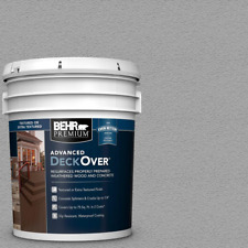 New listing Deck Paint Gray Texture Slip Resistance Resurface for Wood and Concrete 5 Gal.