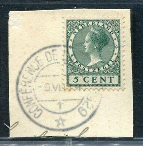 Nederland, nvph 177 met gelegenheidsstempel CONFERENCE DE LA HAYE 1929, vdWart79