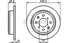 BOSCH Juego de 2 discos freno Trasero 238mm HONDA CIVIC ACCORD 0 986 478 350