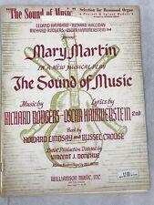The Sound Of Music Sheet Music Note Book Martin Lindsay Crouse Hammond Organ