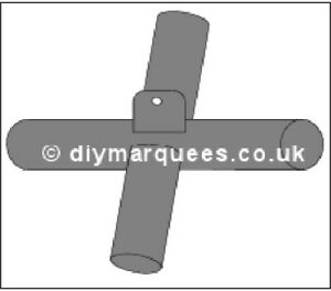 Marquee Knuckle (6m): Spare 4 way flat joint (connector) with tab.