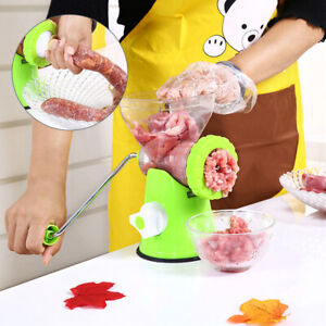 Kitchen Meat Mincer Plastic Grinder Chopper Mince Beef Maker Hand Operated new