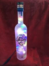 NEW Bling Electric LAMP 750ml CHOPIN VODKA Empty LIQUOR BOTTLE Multi LEDs