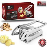 SAJFS Potato Chipper Vegetable Cutter French Fry Slicer Stainless Steel