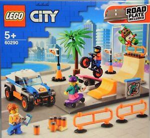 LEGO 60290 Skate Park Rampen Auto Rollstuhl-Fahrer Palme Wippe BMX-Rad  NEU