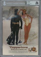 JULIE NEWMAR SIGNED 8x11 1969 COPPERTONE MAGAZINE ADVERTISEMENT RARE BECKETT BAS