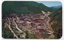 Panorama Wallace Coeur d'Alene Mining District Idaho 1950s postcard
