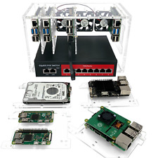 8 Slot Cluster Cloudlet:For Raspberry Pi 4B, 3B+ and other single board computer