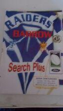 13.5.2001 Barrow Raiders V Leigh de programa