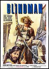 BLINDMAN (3 TIPO) MANIFESTO CINEMA FILM RINGO STARR WESTERN 1972 MOVIE POSTER 4F