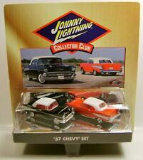 1957 '57 CHEVROLET CHEVY BEL AIR 2 CAR SET COLLECTOR CLUB JOHNNY LIGHTNING RARE