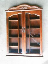 Wood and Glass Vintage Curio Cabinet  Knick Knack