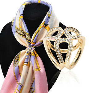 Scarf Silk Ring Clip Buckle Jewelry Delicate Scarves Flower Buckle Holder MO