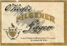 1900s CANADA O'Keefe's Pilsener Beer Stephens Collection Tavern Trove