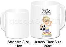 Personalised Football Gift Coffee Tea Novelty Jumbo Giant 20oz Mug (Design 1)