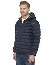 Zip Waist Length Hooded Down Coats & Jackets for Men