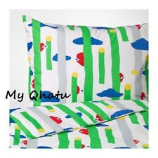 Ikea Avsiktlig Twin Duvet Cover and Pillowcase(s) Twin Green 003.637.84 New