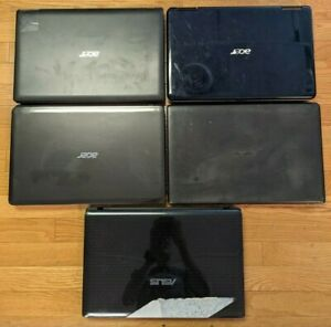 Lot of 5 Broken Windows Laptops for Parts / Repair / As-Is - ASUS Acer Computers