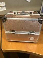 Caboodles Hard Makeup Cosmetic Jewelry Train Case Rose Gold 4 Trays 2 Keys New