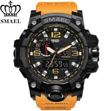 SMAEL Waterproof Sports Military ORANGE Watch Men's Analog Quartz Digital Watch