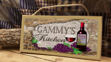 "Gammy's Kitchen Italian Vintage Style Wine Cellar 5"" x 10"" SIGN Wall Plaque"