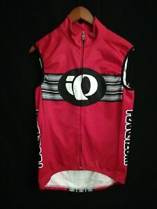 PEARL IZUMI Cycling Bicycle JERSEY Shirt Size M Sleeveless Red made in USA z4