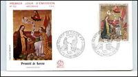 1970 Primitif de Savoie FDC Premier Jour Mi-Nr. 1713 Briefmarke Brief Cover