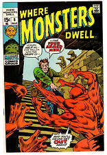 WHERE MONSTERS DWELL #8 8.5 OFF-WHITE TO WHITE PAGES BRONZE AGE