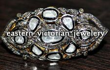 Stunning Vintage Estate 1.89ct Real Rose Antique Cut Diamond Silver Ring Jewelry