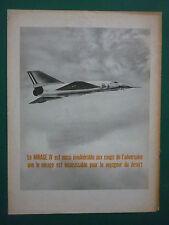 4/1965 PUB AVIONS MARCEL DASSAULT MIRAGE IV FAS AN52 ARMEE DE L'AIR ORIGINAL AD