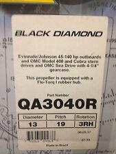 Mercury Alum Black Diamond QA3040R Fits Evinrude/Johnson and OMC Stern and Sea