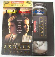 film VHS THE SKULLS i TESCHI J. Jackson  CARTONATA L'Espresso 1999 (F12*) no dvd