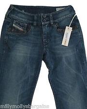 Nouveau Femme Bleu Diesel Ronhar Jeans Taille 25 Jambe 33