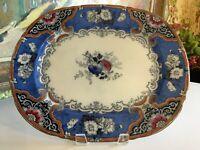 Antique English 19th Century Staffordshire Transferware Pottery Platter Dresden