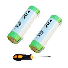 2x HQRP Batteries for Braun 8595, Series 1, Series 7, Contour, Contour Sportive